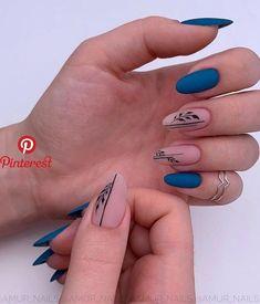 25 Elegant Nail Designs to Inspire Your Next Mani - Nägel - Nageldesign Cute Acrylic Nails, Acrylic Nail Designs, Matte Nails, Diy Nails, Nail Art Designs, Nails Design, Gradient Nails, Nail Manicure, Glitter Nails