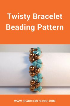The Twisty Bracelet beading pattern is simple Triangle Weave bracelet tutorial that alternates bicones with pearls for a graceful winding effect. via Bead Club Lounge Beaded Necklace Patterns, Jewelry Patterns, Beading Patterns, Woven Bracelets, Bangles, Bracelet Tutorial, Beading Tutorials, Bead Weaving, Crystal Beads