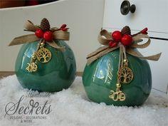 Christmas Time, Christmas Bulbs, Christmas Crafts, Greek Beauty, Lucky Charm, Clay Projects, Crochet Flowers, Pomegranate, Decoupage