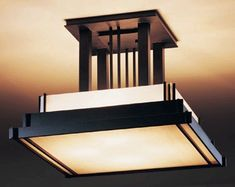12-3715 Semi-flush: Steppe, drop version with art glass options. Hubbardton Forge Flush Mount