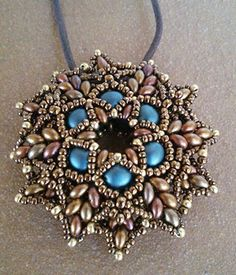 Zonnetje pendant beaded by my Beading Friends- Ellad2 Beading Tutorial