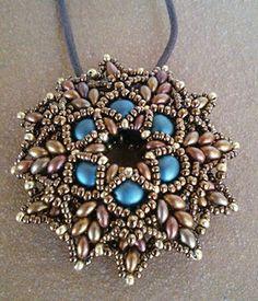 Zonnetje pendant beaded by my Beading Friends- Ellad2 Beading Tutorial
