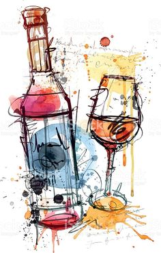 Illustration about Digital drawn red wine on white Background. Illustration of alcohol, abstract, drops - 42750620 Wine Painting, Painting Prints, Art Paintings, Art Du Vin, Wine And Canvas, Free Art Prints, Wine Art, Oeuvre D'art, Canvas Wall Art