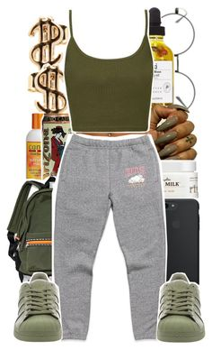"""U Lied x Ray Dubb"" by chynelledreamz ❤ liked on Polyvore featuring Carol's Daughter, Topshop and adidas"