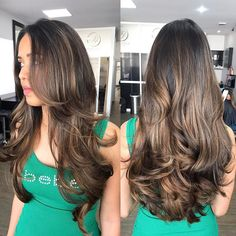 80 Cute Layered Hairstyles and Cuts for Long Hair Wavy Brunette Hairstyle For Long Hair Long Layered Cuts, Long Layered Haircuts, Haircuts For Long Hair, Long Hair Cuts, Cool Hairstyles, Layered Hairstyles, Wedding Hairstyles, Long Layered Hair Wavy, Hairstyle Names