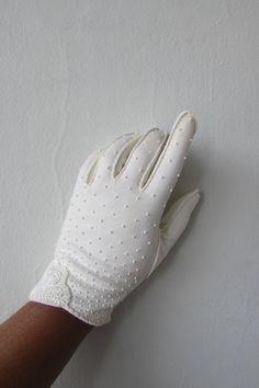 vintage 1950s white gloves   vintage white gloves   1950s formal dress   vintage 1950s white beaded glove   small   The Wellington Gloves by VivianVintage8 on Etsy