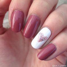 A simple kick off to the next few Valentine manis ❤ -K #cutenailart #cutenails #polish #nailpolish #beautiful #pretty #cute #inspire #nailstagram #inspiring #art #artist  #artwork #love #paint #design #winter #nail #nails #winternails #heart #heartnails #valentine #valentinesdaynails #valentinesday #pinknails #pink