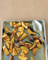 A little bit of cinnamon goes a long way in the butter used to flavor this roasted side dish.