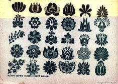 Folk Embroidery Patterns Hungarian embroidery tulip pattern (possible tattoo idea) Embroidery Designs, Embroidery Motifs, Learn Embroidery, Embroidery For Beginners, Embroidery Techniques, Embroidery Tattoo, Floral Embroidery, Folk Art Flowers, Flower Art