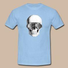 Skull (motorcyclist) - Miesten t-paita