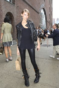 leather outfit