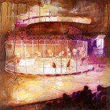 The Shrine Circus Tigers by Leigh Konyk.  Mixed Media.  2011 Winnipeg Timeraiser.
