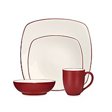 Noritake® Colorwave Square Dinnerware Collection 16 pc Raspberry Bed Bath & Beyond $40