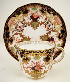 Antique Royal Crown Derby Tea Cup & Saucer circa You can appreciate morning meal or various time periods applying tea cups. Tea cups also have ornamental features. When you go through the tea cup versions, you will see this clearly. China Cups And Saucers, China Tea Cups, Teapots And Cups, Teacups, Tea Cup Set, My Cup Of Tea, Tea Cup Saucer, Tea Sets, Antique Tea Cups