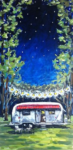 Airstream Painting on Canvas by DevinePaintings on Etsy, $175.00