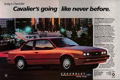 1984 Chevrolet Cavalier Type Liter Fuel Injected-Original 2 Page Magazine Ad Corvette, Convertible, Nova, Chevrolet Cavalier, Chevy Van, Classic Chevrolet, Car Memes, Car Advertising, Magazine Ads