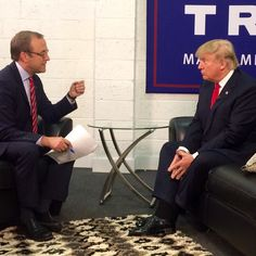 Sitting down with Donald Trump backstage at his rally in Grand Rapids Michigan. by jonkarl