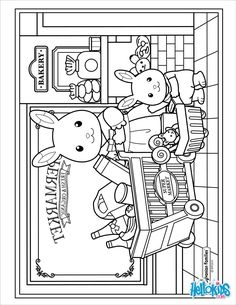 coloring page Sylvanian Families on Kids-n-Fun. At Kids-n-Fun you will always find the nicest coloring pages first! Family Coloring Pages, Quote Coloring Pages, Preschool Coloring Pages, Cool Coloring Pages, Mandala Coloring Pages, Animal Coloring Pages, Printable Coloring Pages, Coloring For Kids, Adult Coloring Pages