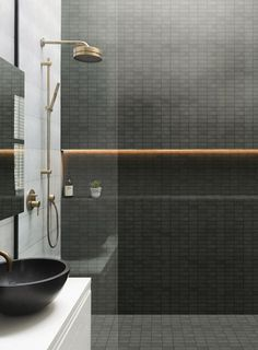 30 Amazing Small Bathroom Wall Tile Ideas To Inspire You - Wall Art Bathroom Design Inspiration, Bad Inspiration, Design Ideas, Design Trends, Design Design, Design Blogs, Bath Design, Bathroom Design Luxury, Bathroom Wall