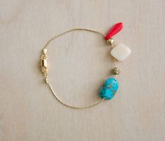 {Ocean Bracelet} colourful addition to white summer wear!