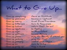 What To Give Up For Lent Image Credit: Art4TheGlryOfGod by Sharon http://bit.ly/1Bn3Jwg