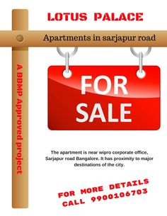 Search for flats for sale in sarjapur road. 2 and 3 BHK Premium Apartments in Sarjapur road.Location: Walk from Wipro Corporate Office, Sarjapur Road, Bangalore Flats For Sale, Apartments, Lotus, Palace, Aesthetics, Luxury, Building, Design, Lotus Flower