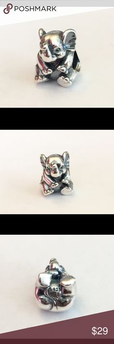 Authentic Pandora Lucky Elephant Charm Sterling Silver, Hallmark Stamp S 925 ALE. You know it's Authentic because the Pandora Hinged Box and Tag are included. No Trading...Thank you. Pandora Jewelry