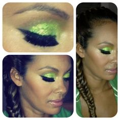 """For the last year """"Basketball Wives"""" reality star Evelyn Lozada has been working hard on the launch of her new makeup collection """"E"""" by Evelyn. The cosmetics line - that includes eye shadows, powde. Green Eyeshadow, Glitter Eyeshadow, Makeup Tips, Hair Makeup, Drag Makeup, Makeup Ideas, Eye Illusions, Evelyn Lozada, Makeup Gallery"""