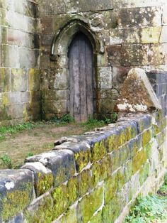 Doorway at Stafford Castle, built originally 1347 by the 1st Earl of Stafford. Stafford, England.
