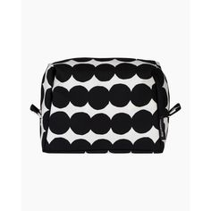 Vilja Räsymatto cosmetic bag - white, black - All items - Home  - Marimekko.com Marimekko, Cosmetic Bag, Cosmetics, Fabric, Prints, Pattern, Cotton, Bags, Tejido