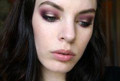 smokey purple and gold eyes