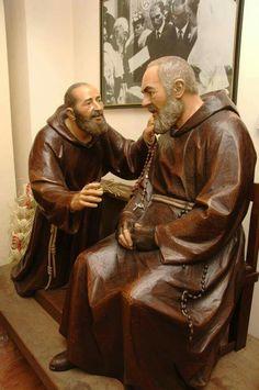 Catholic Prayers, Catholic Art, Catholic Saints, Francis Of Assisi, St Francis, St Simon Stock, St Pio Of Pietrelcina, Spanish Prayers, Jesus E Maria