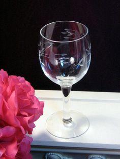 Vintage Princess House Crystal Wine Glass Set of Four.
