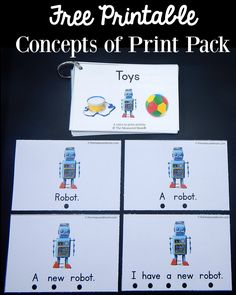 Today I'm sharing another free printable that works wonderfully for teaching concepts of print.  It's all about toys! (This post contains affiliate links.) Have you seen our voice to print packs?  So far we've shared a transportation pack and a Christmas pack. Today I'm adding to the collection with a pack about toys. How to prepare the activity Print the cards in the download at the end of this post.... Read More »