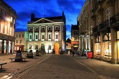 York on beginning of evening in february.