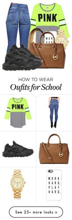 """School outfit"" by bestdressed101 on Polyvore featuring Casetify, Michael Kors and NIKE"