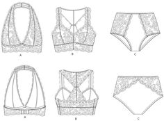 The best part of sewing lingerie is picking all the prettiest lace. The precision sewing and all the small part sounds hard but really as I mentioned previously; sewing lingerie is highly addictive…