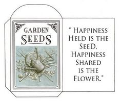 Seed Saving Envelope to print and use. This might make cute favors with heirloom seeds inside. Seed Packaging, Popular Flowers, Seed Packets, Seed Pods, Garden Seeds, Seed Starting, Flower Seeds, Free Printables, Printable Templates