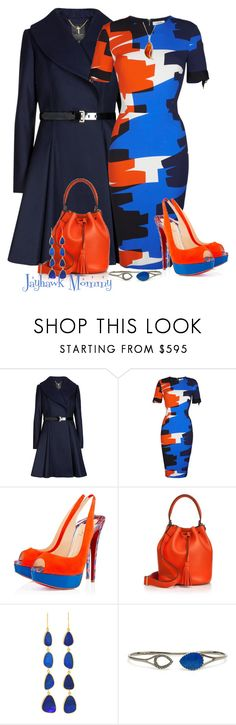 """""""Graffiti"""" by jayhawkmommy ❤ liked on Polyvore featuring Ted Baker, Thierry Mugler, Christian Louboutin, Anya Hindmarch, Pippa Small, Gaydamak and Goldmajor"""