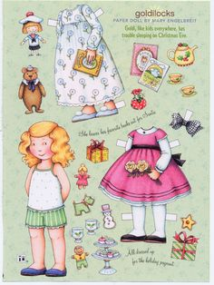 Mary Engelbreit | Mary Engelbreit Paper Doll, Goldilocks on Christmas Eve, Fun for Art ...