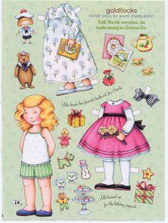Mary Engelbreit | Mary Engelbreit Paper Doll, Goldilocks on Christmas Eve, Fun for Art ...