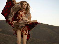 Vintage Fleur-y Up Dress, Under Wraps Scarf, Plaid Jacket & BLQ Basiq Tastemaker Coat #nastygalvintage #fall