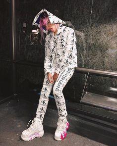 Roshelle in our CALVIN KLEIN EST. 1978 OK logo denim trucker jacket and narrow leg jeans matching set, featuring al all-over graphic design. Buffalo Classics, Ok Logo, Buffalo Shoes, Gone Girl, London, Calvin Klein Jeans, All Fashion, Dress Outfits, Matching Set