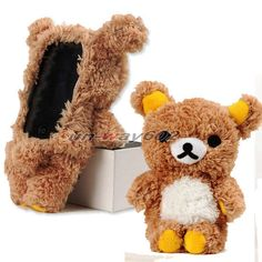 Cute 3D Teddy Bear Funny Doll Case Cover For iPod Touch 4 iPod Touch 5 16GB 32GB
