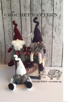 CROCHET PATTERN Scandinavian Christmas Gnome by OnePaisleyPig