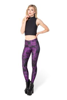 Plum Bath 2.0 Leggings (WW ONLY 48HR $75AUD) by Black Milk Clothing. S bought on BSS. Swapped on BSS.