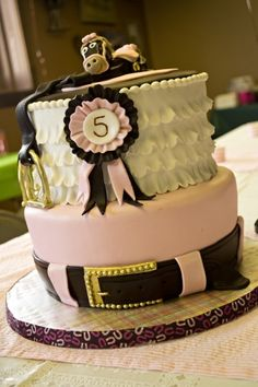 Girly Horse Themed Birthday By kcassano on CakeCentral.com