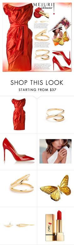 """""""Grace : Jen Chae x Mejuri #2"""" by dragananovcic ❤ liked on Polyvore featuring Vivienne Westwood Red Label, Inglot, Gianvito Rossi and Yves Saint Laurent"""