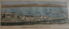 GREECE GREEK ISLAND CHIOS SCIO HIOS   PRINT  1880
