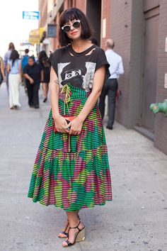 Mixing vintage like a pro at NYFW. Photo by Jenna Marie Wakani.